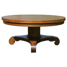 Oak Custom Round Coffee Table 44 Inches