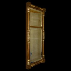 Sheraton Style Pillar Lemon Gold Mirror
