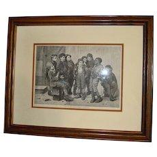 Oak Frame Print of 9 Boys (Jolly Lot)