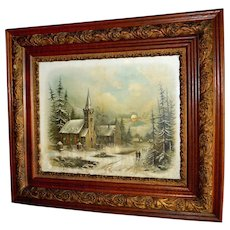 Oak Victorian Picture Frame with Chandler Print – Church