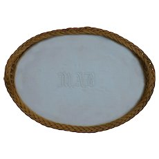 Large Oval Wicker Serving Tray
