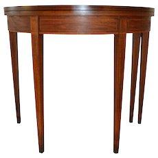 Mahogany Inlaid Hepplewhite Game Table