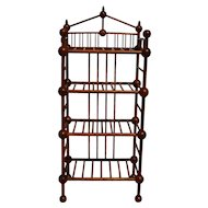 Unusual Stick and Ball Bookcase / Pie Rack