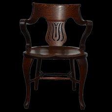 Oak Fancy Office Arm Chair
