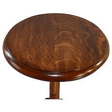 Oak Victorian Carved Plant Stand - Red Tag Sale Item
