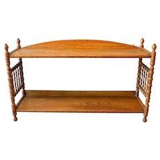 Oak Hanging Dainty Spindle Shelf