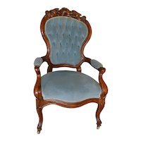 Civil War Era Heavily Carved Gentleman's Chair