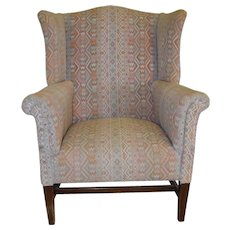 Chippendale Wing Back Arm Chair