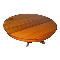 Victorian Mahogany Claw Foot Split Base Banquet Dining Table