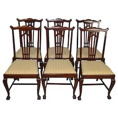 Set of 6 Mahogany Ball and Claw Dining Chairs