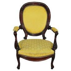 Victorian Walnut Gents Chair
