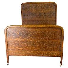 Tiger Sawn Oak Full Size Antique Bed