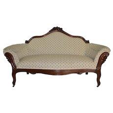 Victorian Grape Back Carved Sofa – Civil War Era
