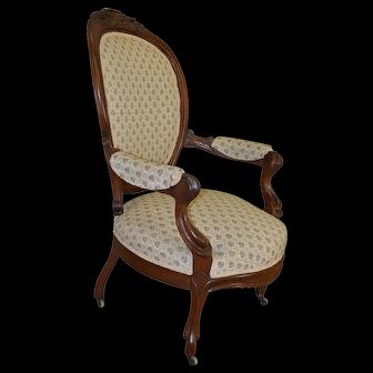 Victorian Grape Carved Arm Chair Civil War Era