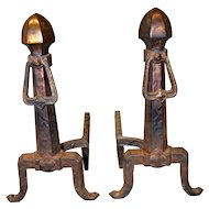 Pair of Mission Style Andirons
