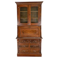 Victorian Slant Top Secretary Desk
