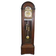 Mahogany Double Weight Grandfather Clock with Chimes