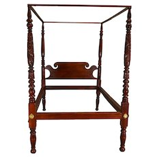 Period Acanthus Carved Poster Canopy Bed – Civil War Era