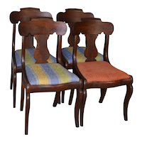 Set of Four Period Empire Chairs - Civil War Era