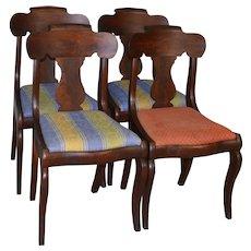 Set of Four Period Empire Chairs - Civil War Era