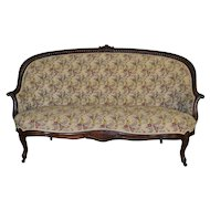 Victorian Rope Carved Unusual Sofa