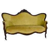 Victorian Rosewood Hand Carved Large Sofa