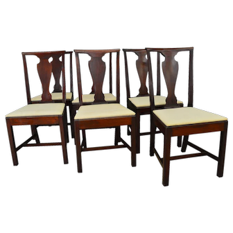 Set of 6 Mahogany Formal Dining Chairs