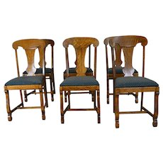 Set of 6 Empire Oak Dining Chairs