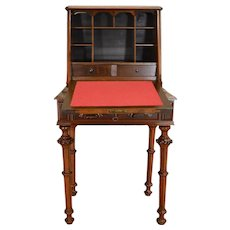 Victorian Dainty Ladies Carved Slant Top Desk