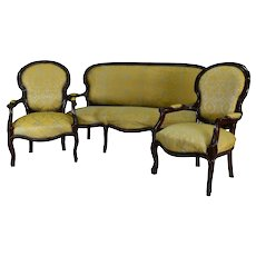 Victorian Three Piece Parlor Set