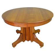 Mission Round Oak Dining Table