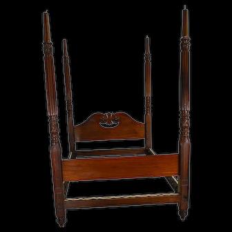 Period Mahogany Carved Canopy Bed – Civil War Era