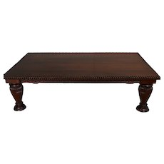 Oversize Carved Mahogany Coffee Table