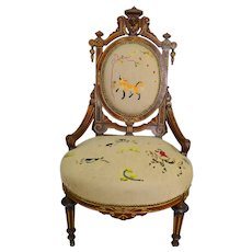 John Jelliff Needlepoint Ladies Chair