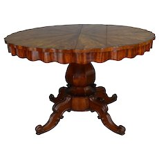 Empire Flame Mahogany Tilt Top Kitchen Table -Oversized Stand Period