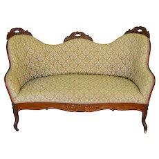 Victorian Diminutive Sofa Pre-Civil War