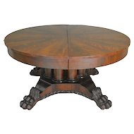 Period Empire Claw Foot Banquet Table – 12 Feet