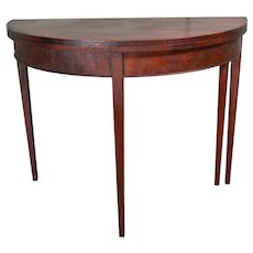 Mahogany Demi Lune Card Table