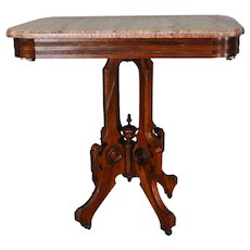 Victorian Marble Top Parlor Stand