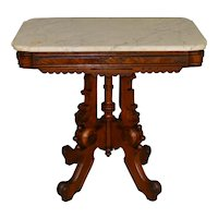 Victorian Marble Carved Parlor Stand