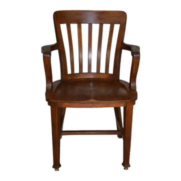 Oak Lawyers Bankers Victorian Arm Chair