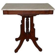 Victorian Marble Top Shapely Stand
