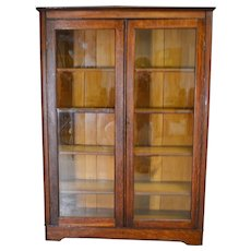 Oak Larkin Two Door Victorian Bookcase