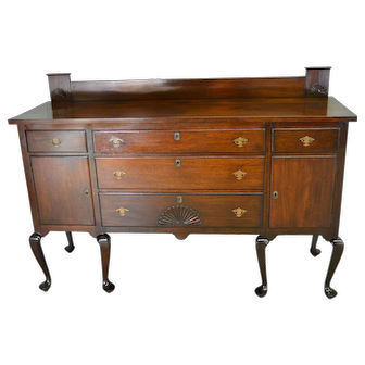 Mahogany Bench Made Victorian Chippendale Sideboard