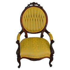Victorian Rose Carved Arm Chair