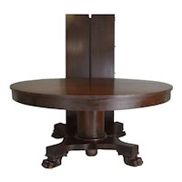 "Mahogany Empire Claw Foot 60"" Banquet Table – 10 Feet"