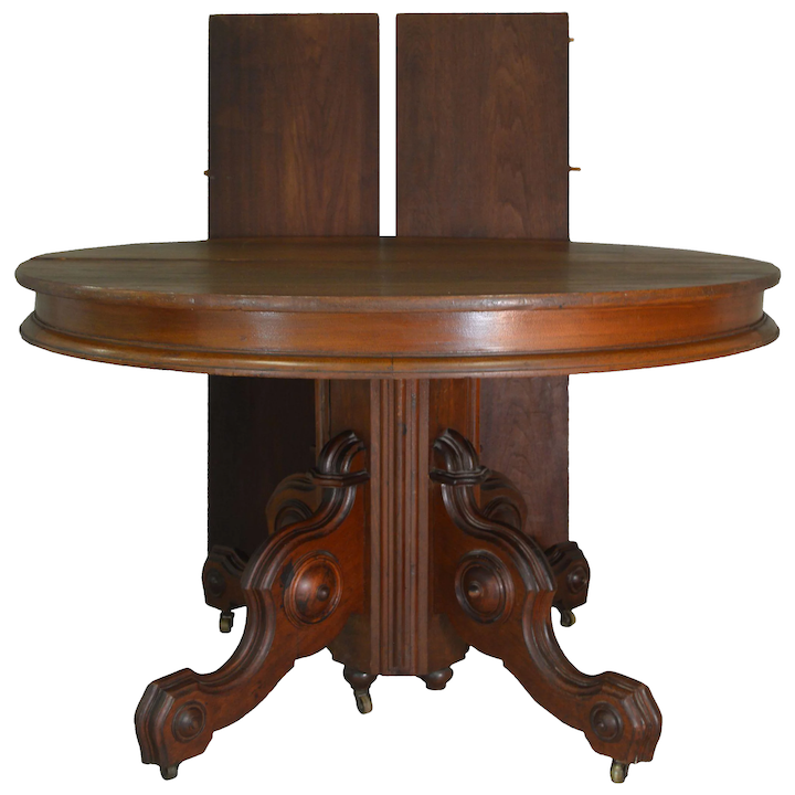 Peachy Victorian Round Walnut Dining Table Beutiful Home Inspiration Ommitmahrainfo