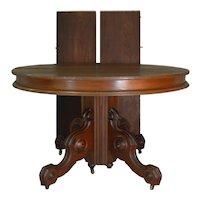 Victorian Round Walnut Dining Table