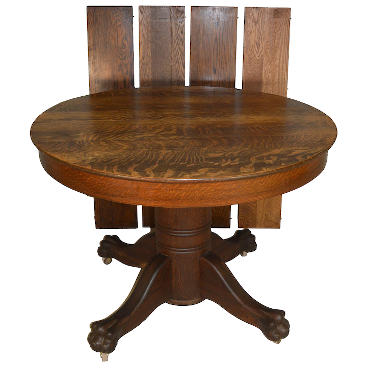 Enjoyable Victorian Round Claw Foot Split Base Dining Table 44 Inches Beutiful Home Inspiration Ommitmahrainfo