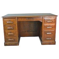Oak Lawyers Flat Top Desk
